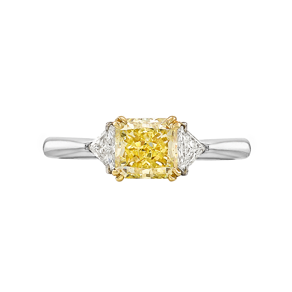 1 25 Carat Fancy Yellow Diamond Ring