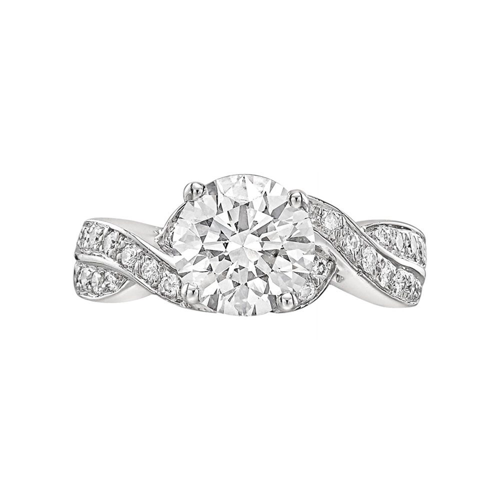 1 62 Carat Round Brilliant Diamond Ring