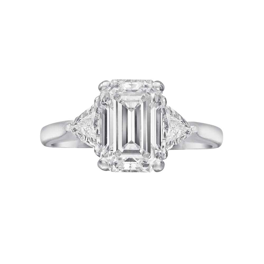 Estate Betteridge Collection 2 21 Carat Emerald Cut Diamond Engagement Ring