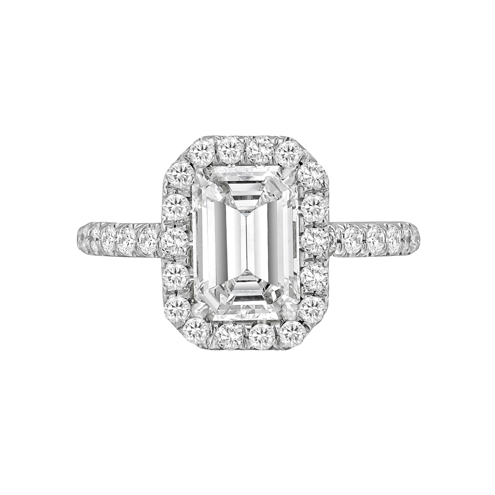 Estate Betteridge Collection 2 01 Carat Emerald Cut Diamond Engagement Ring