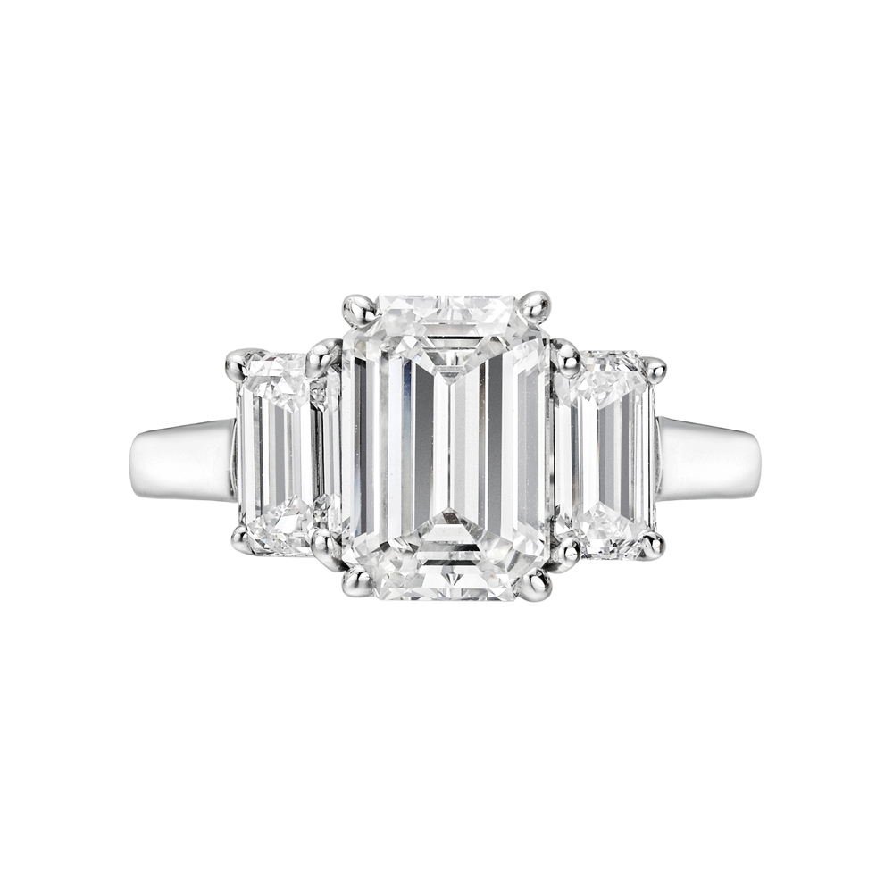 Estate Betteridge Collection 2 02 Carat Emerald Cut Diamond Engagement Ring