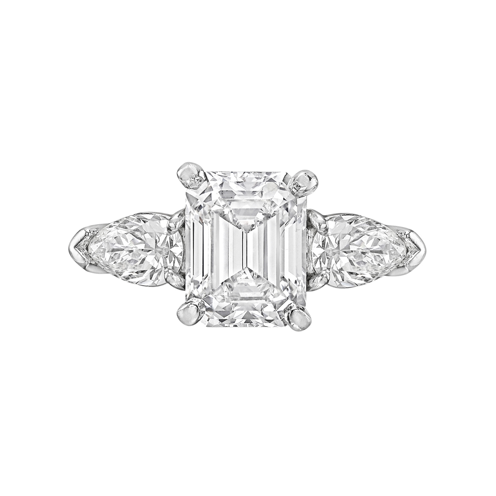 2 56 Carat Emerald Cut Diamond Ring