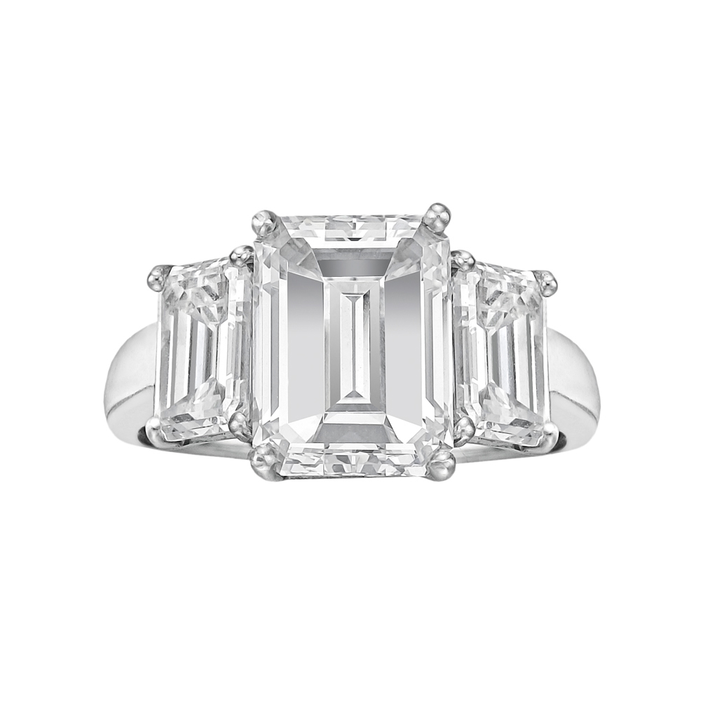3 01 Carat Emerald Cut Diamond Engagement Ring