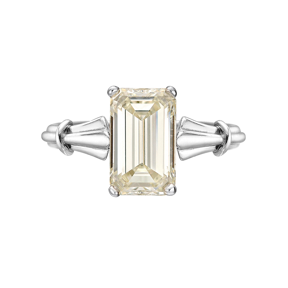 Estate Betteridge Collection 3 04 Carat Emerald Cut Diamond Ring