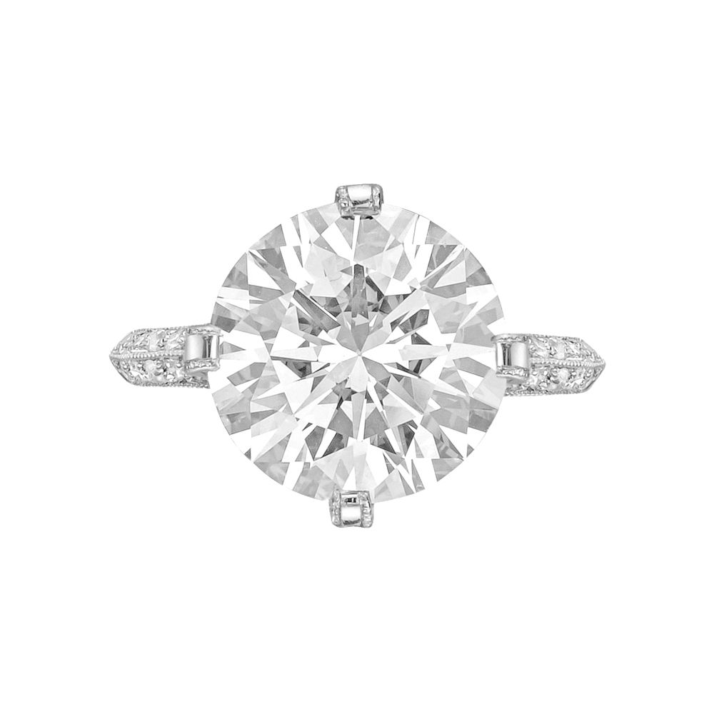 4 05 Carat Round Brilliant Cut Diamond Ring