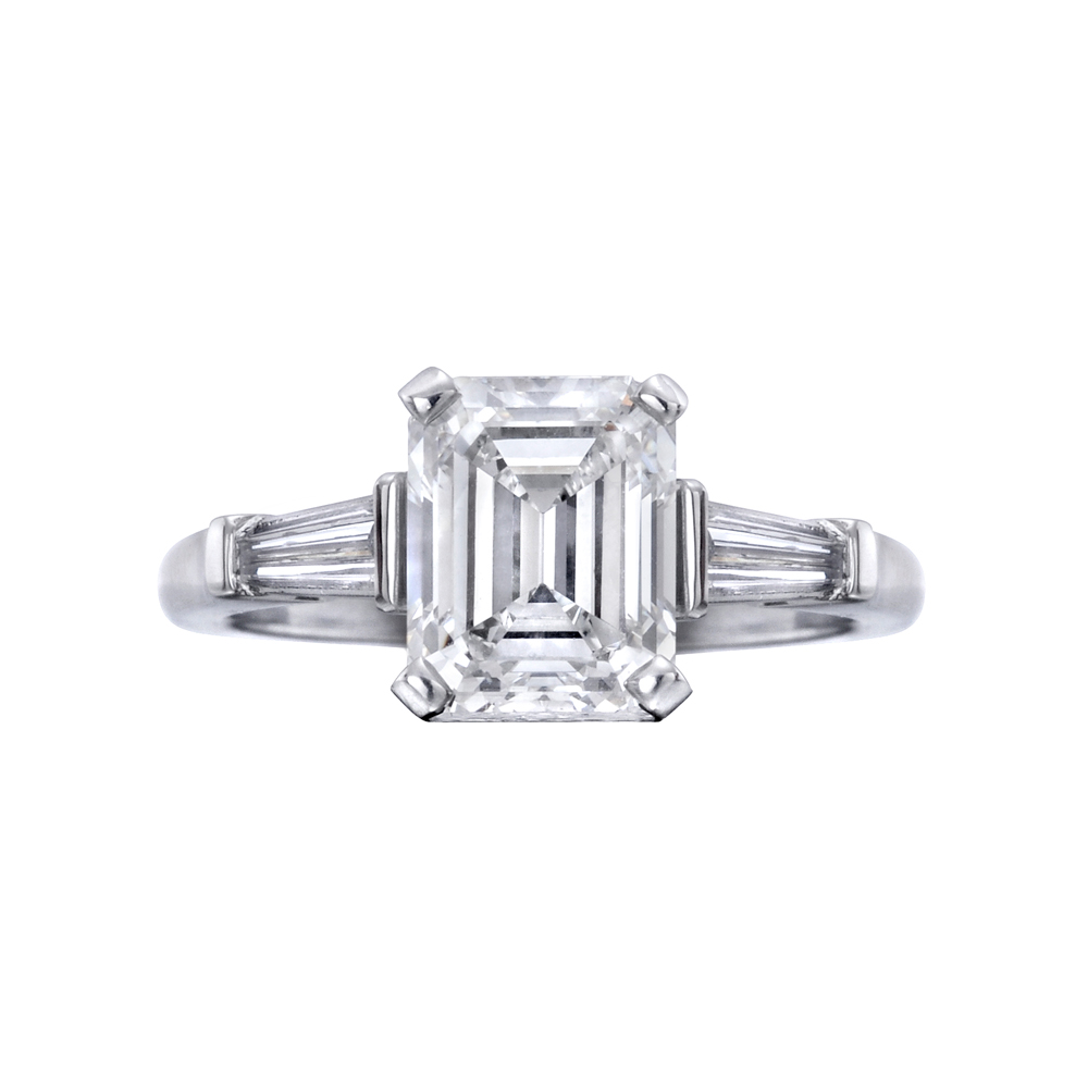 Betteridge 2 21 Carat Emerald Cut Diamond Engagement Ring