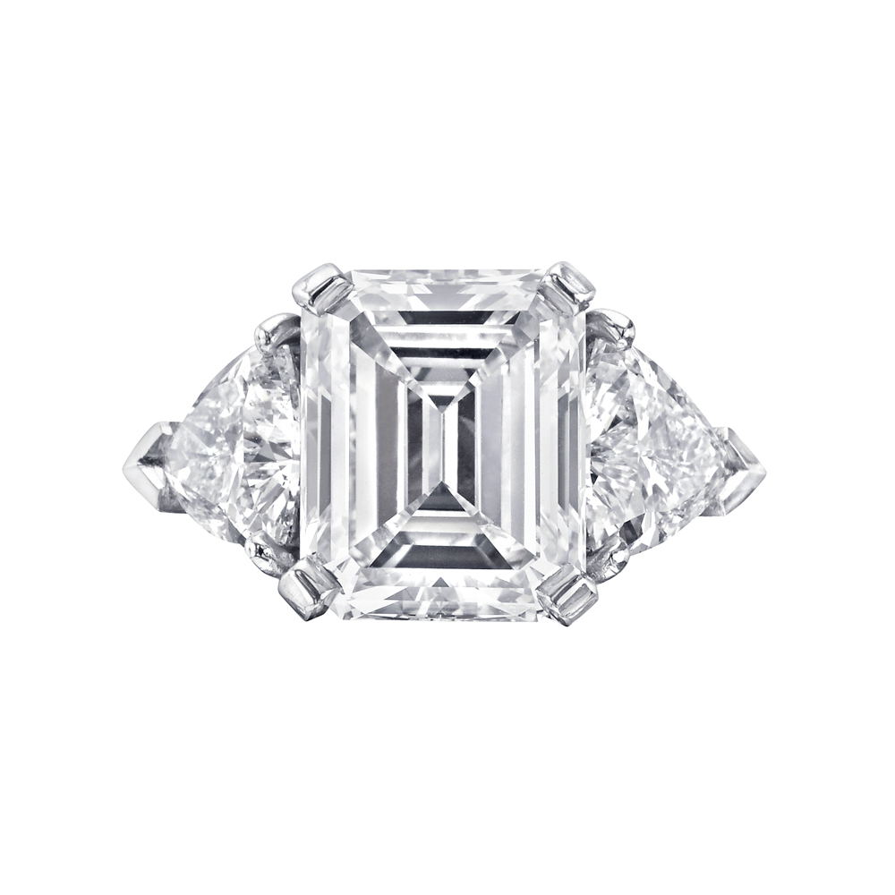 Betteridge 3 58 Carat Emerald Cut Diamond Engagement Ring