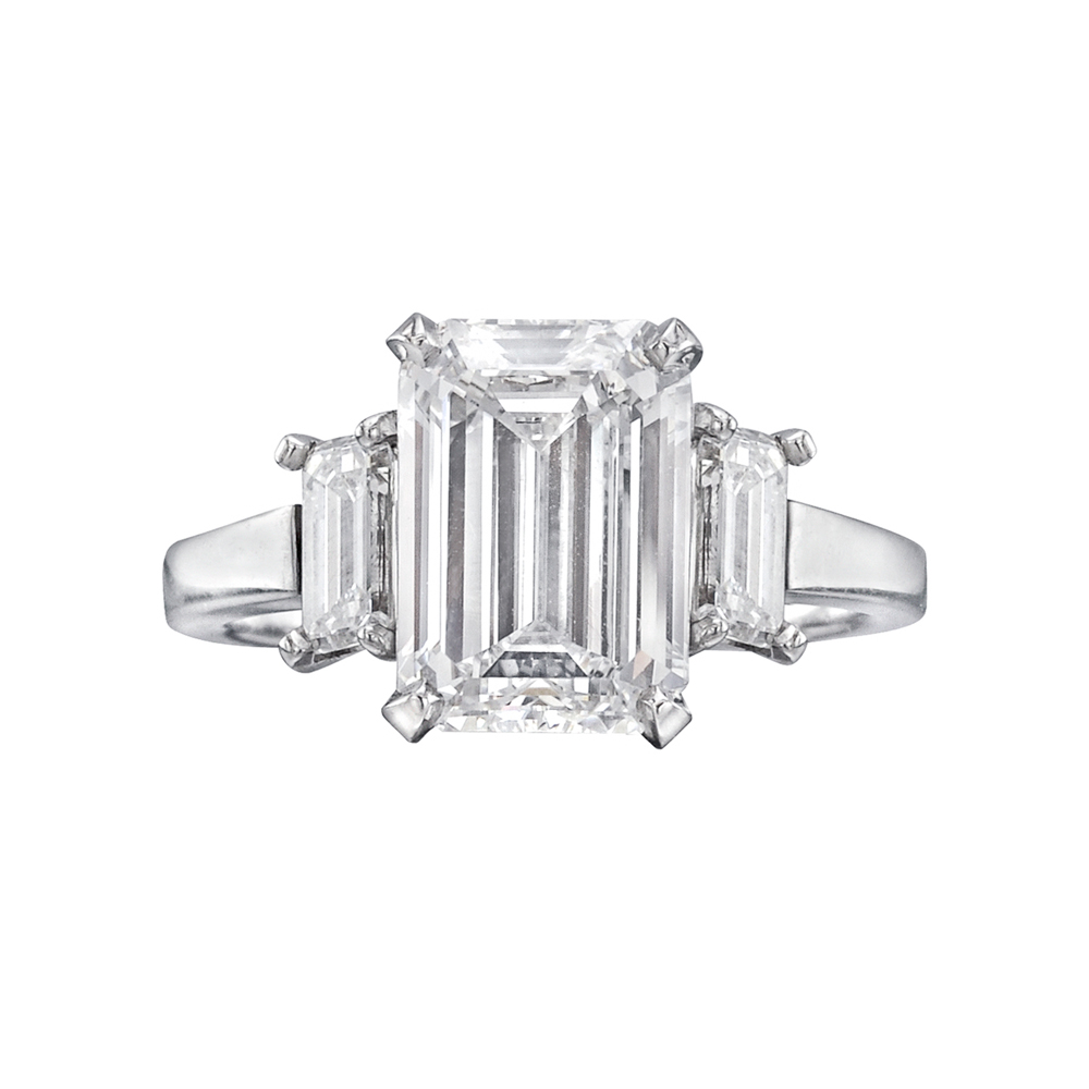 Betteridge 3 42 Carat Emerald Cut Diamond Engagement Ring