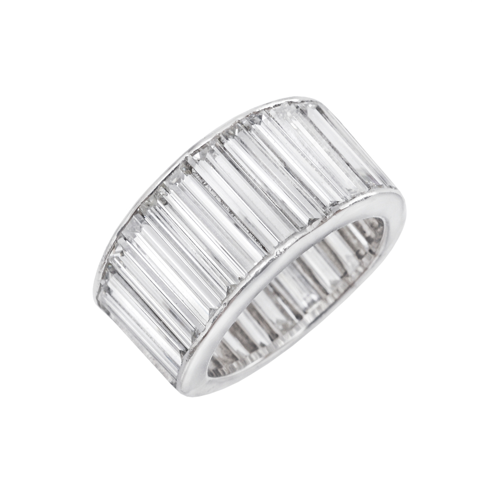 Estate Betteridge Collection Tapering Baguette Cut Diamond