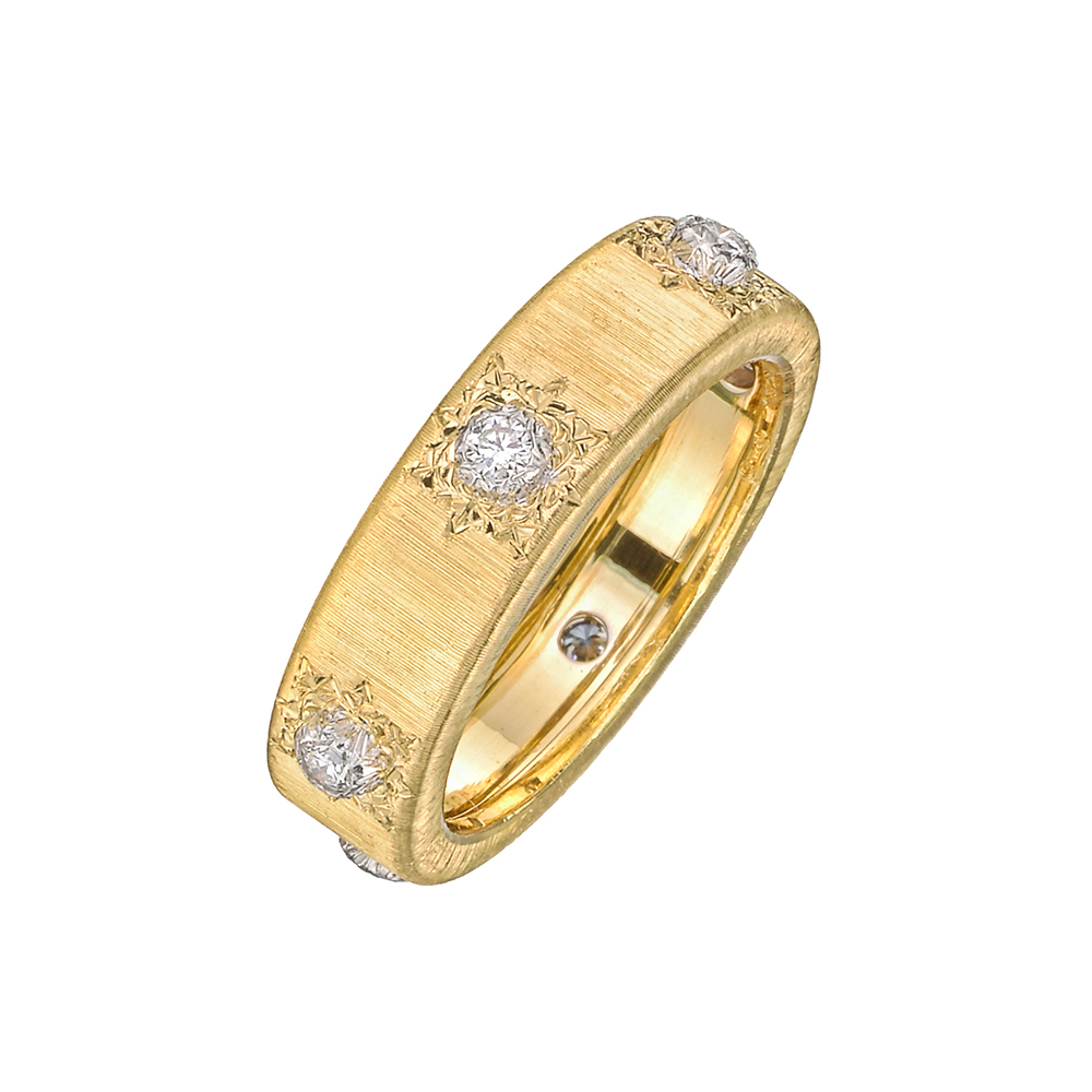 buccellati yellow gold quot classica quot band ring