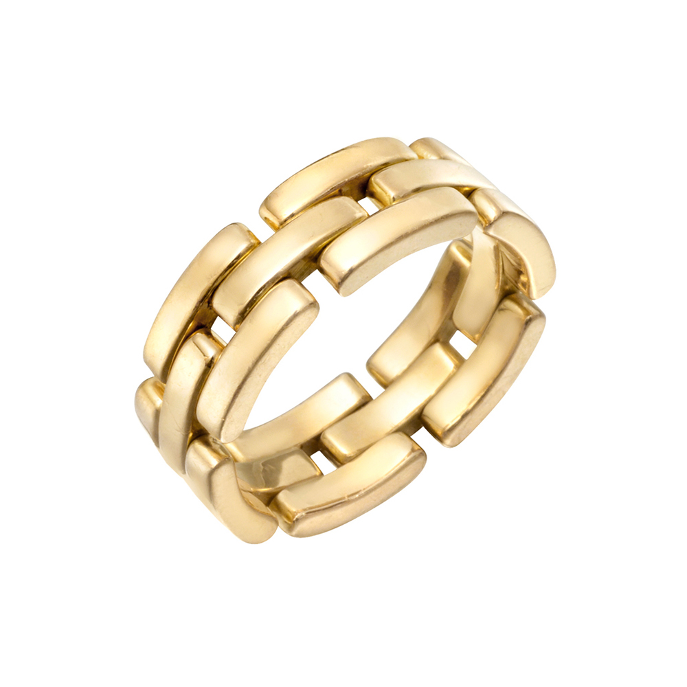 Cartier panthere watch links for Mercedes benz 18k gold ring