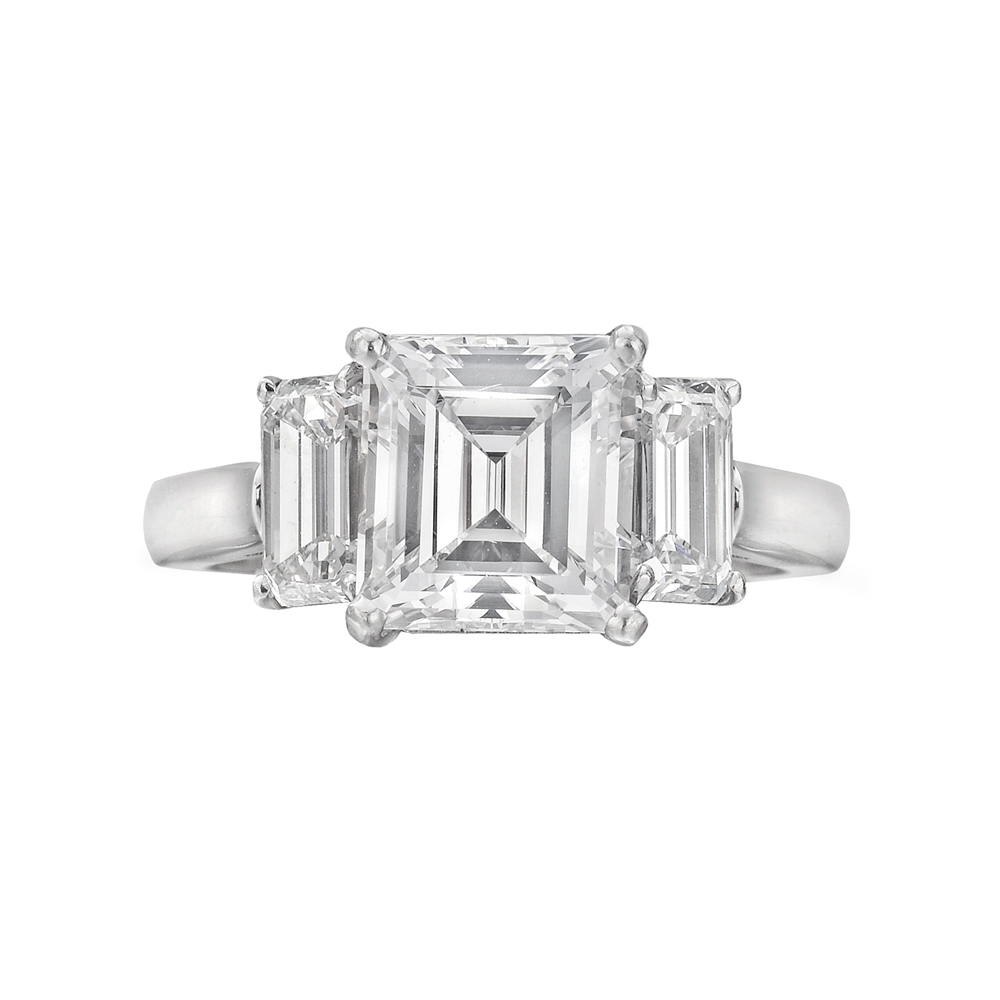 Betteridge 3 01 Carat Emerald Cut Diamond Engagement Ring