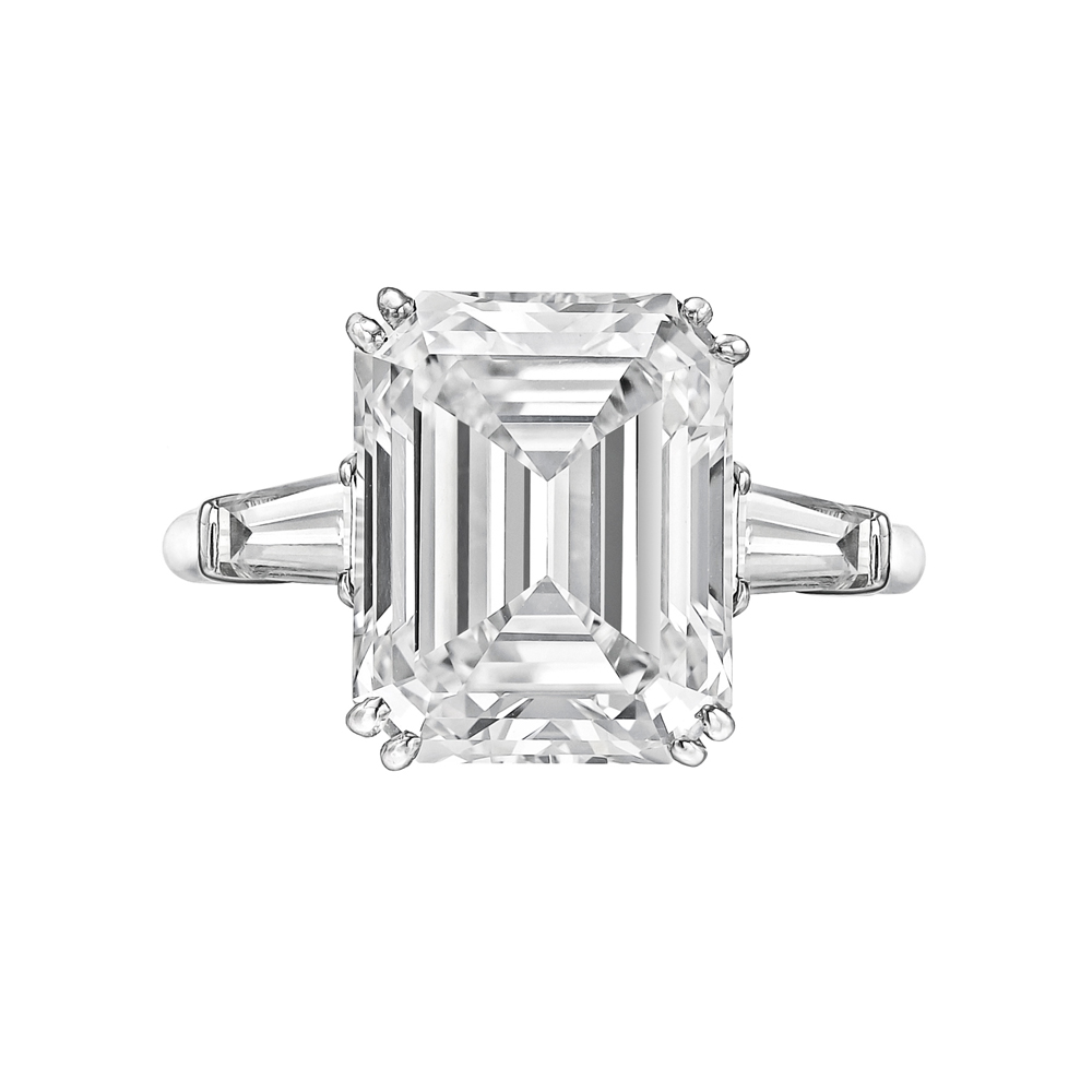 Estate Betteridge Collection 5 67 Carat Emerald Cut Diamond Ring
