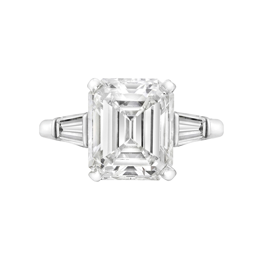 Estate Betteridge Collection 3 12 Carat Emerald Cut Diamond Engagement Ring