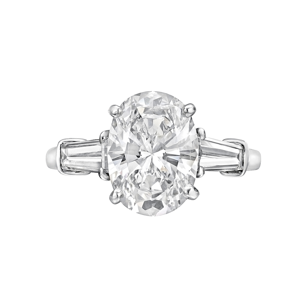 Estate Betteridge 209 Carat Oval Cut Diamond Engagement Ring