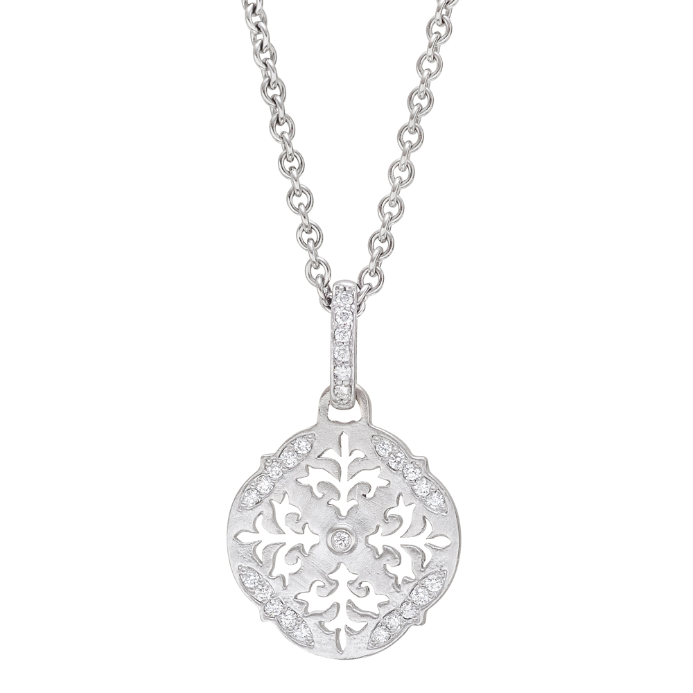 white gold snowflake pendant betteridge