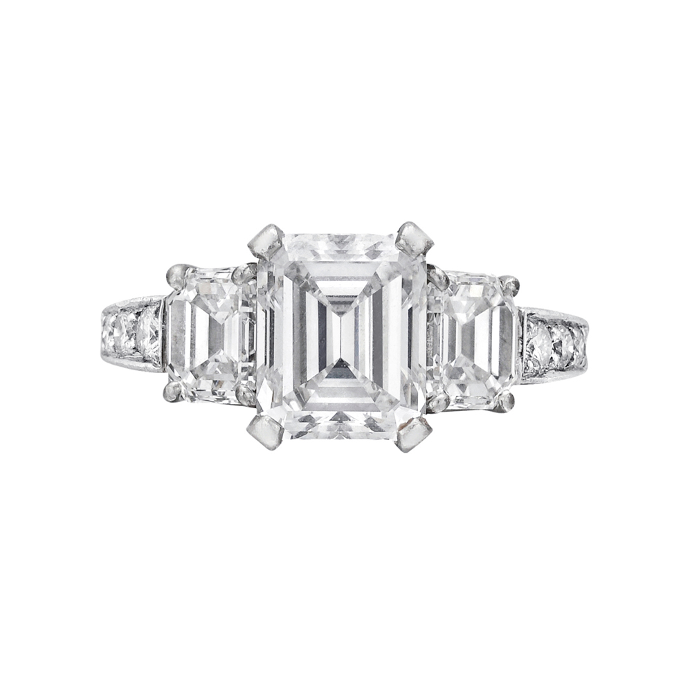 Estate Betteridge Collection 2 28 Carat Emerald Cut Diamond Engagement Ring