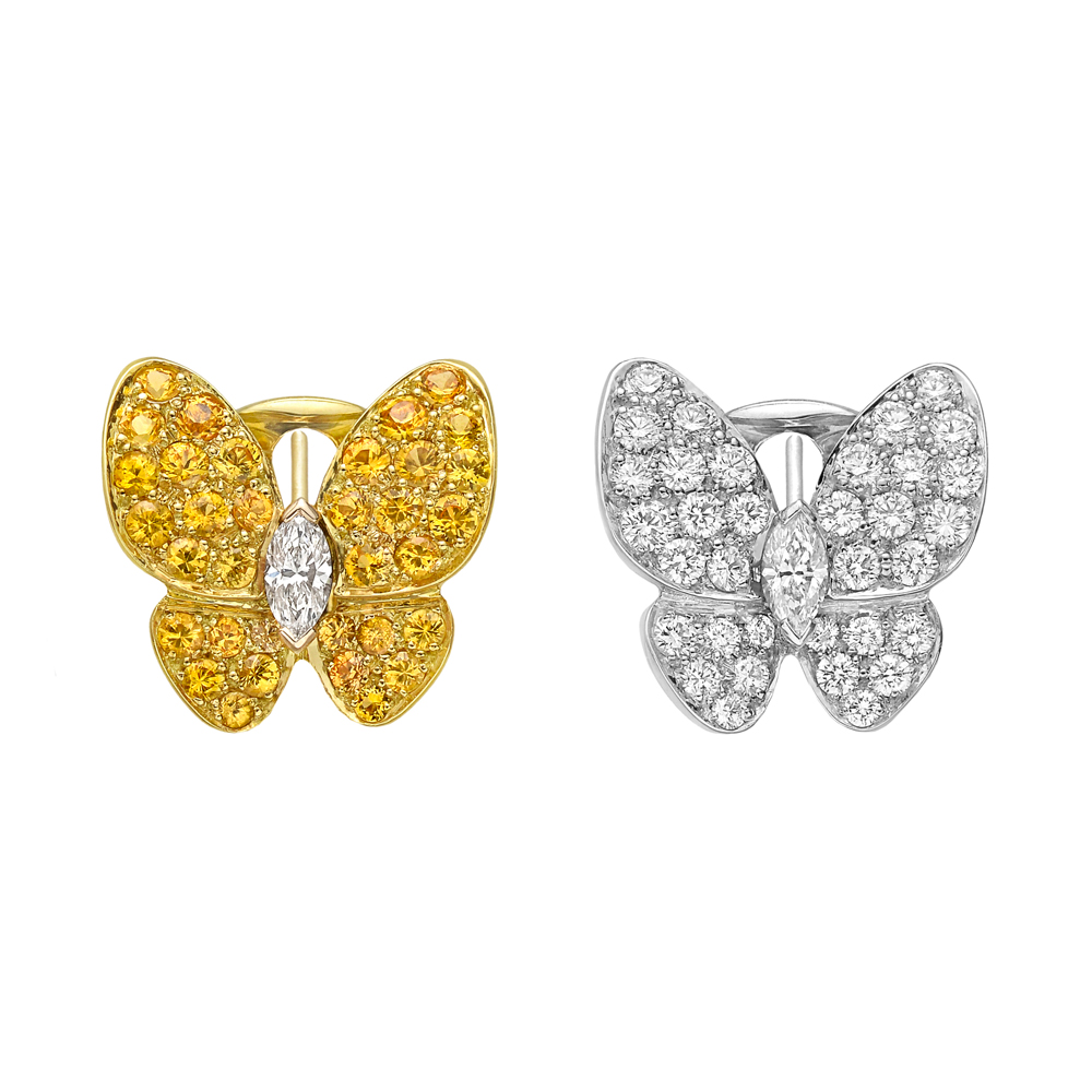 Van Cleef & Arpels Diamond & Yellow Sapphire Butterfly ...