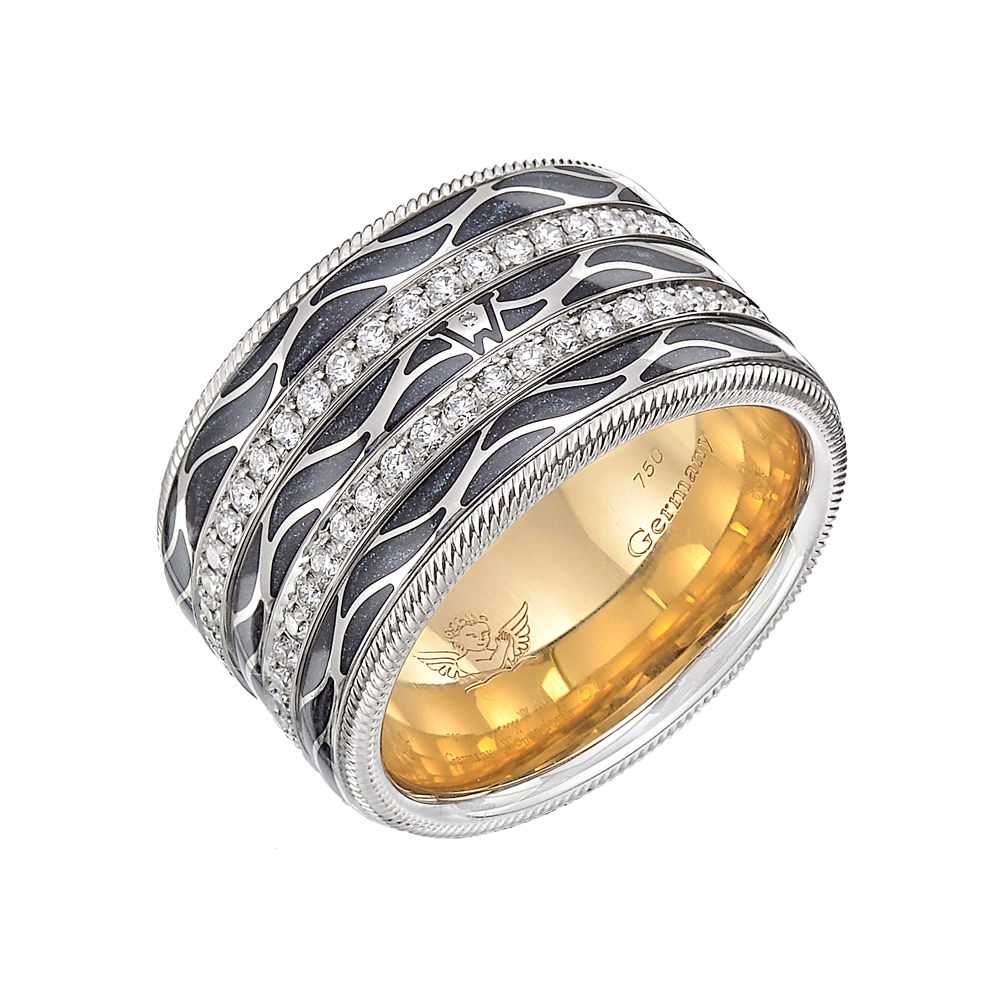 "Wellendorff ""angel Of The Night"" Ring  Betteridge. English Watches. Skinny Gold Necklace. 14 Carat Diamond. Mens Eternity Band"