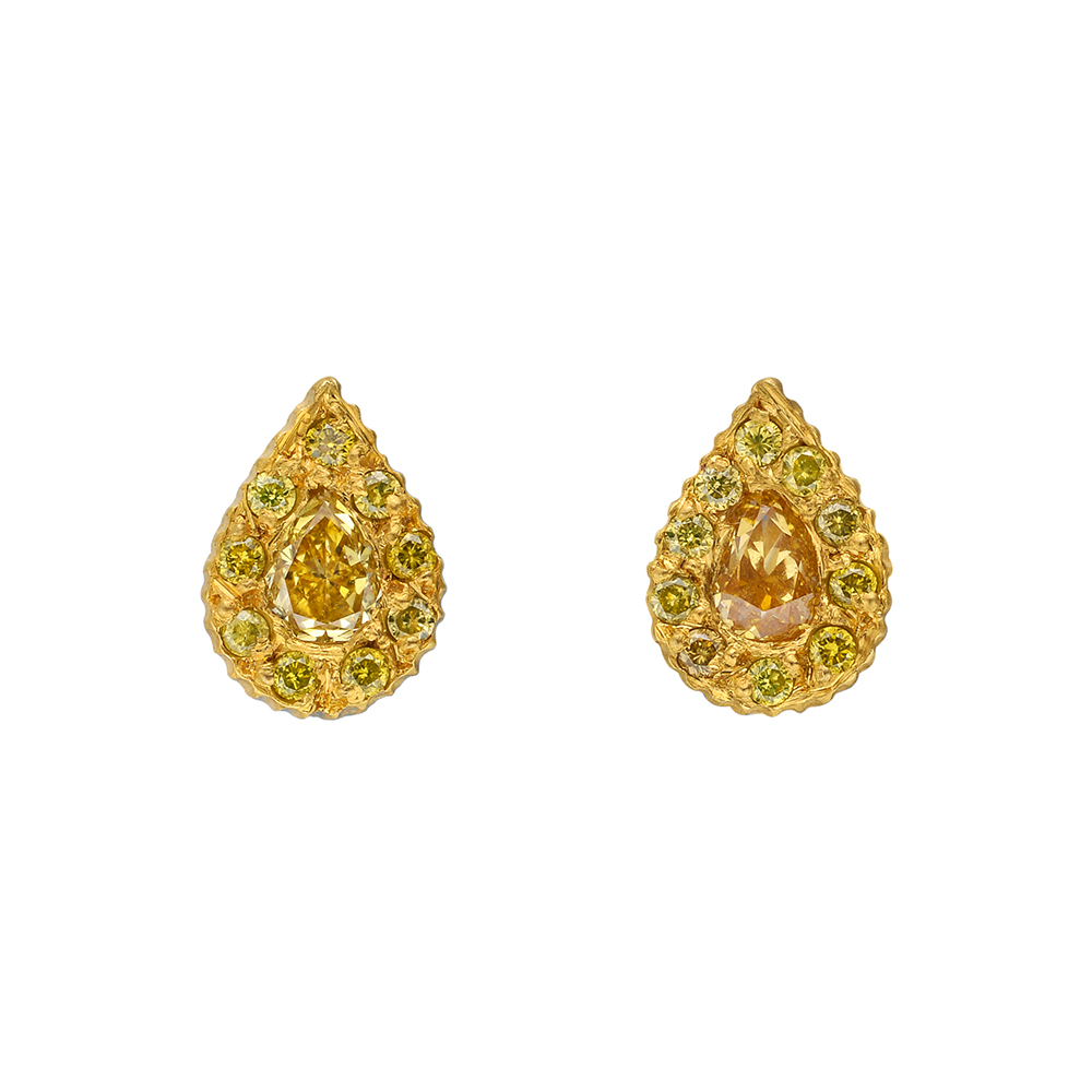 yellow diamond stud earrings small clara teardrop shaped stud earrings ... Yellow Diamond Stud Earrings