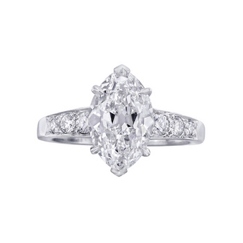 Betteridge 2.65 Carat Marquise-Shaped Diamond Engagement Ring