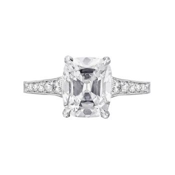 Betteridge 1.82... 1 Carat Cushion Cut Halo Engagement Ring