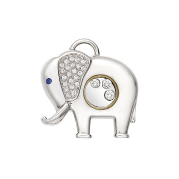 Elephant Pendants on Betteridge  Chopard  Happy Diamonds  18k White Gold Elephant Pendant