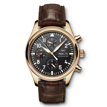 Iwc Pilots Chronograph In Rose Gold