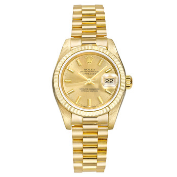 Rolex Datejust President Champagne Diamond Yellow Gold Watches