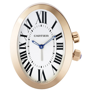 cartier baignoire travel clock with alarm w0100083. Black Bedroom Furniture Sets. Home Design Ideas