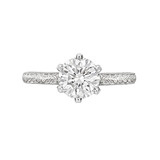 1.57 Carat Round Brilliant Diamond Ring