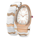 ​Serpenti Spiga Pink Gold & White Ceramic (102202)