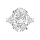 11.31 Carat Oval-Cut Diamond Engagement Ring
