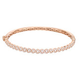 ​14k Rose Gold & Diamond Hinged Bangle