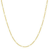 14k Yellow Gold Figaro Link Chain Necklace (16&quot;) 