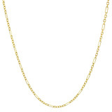 14k Yellow Gold Figaro Link Chain Necklace (18&quot;)