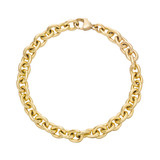​14k Yellow Gold Oval Link Bracelet