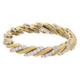 18k Gold & Diamond Diagonal Link Bracelet