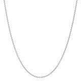 18k White Gold Thin Chain Necklace (18&quot;)