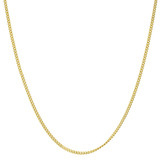18k Yellow Gold Thin Curb Link Chain Necklace (20&quot;)