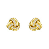 18k Yellow Gold & Diamond Knot Earstuds