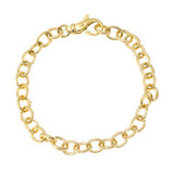 18k Yellow Gold Reeded Oval Link Bracelet