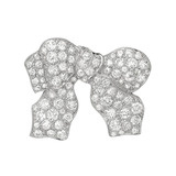 Late Deco Diamond Bow Pin