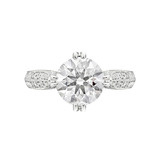 2.56 Carat Round Brilliant Diamond Engagement Ring