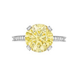 3.52 Carat Fancy Intense Yellow Diamond Ring