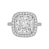 ​4.00 Carat Cushion Brilliant-Cut Diamond Ring