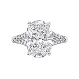 4.17 Carat Oval Brilliant-Cut Diamond Ring