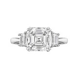 4.34 Carat Asscher-Cut Diamond Engagement Ring