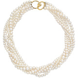 6-Strand Pearl Torsade Necklace