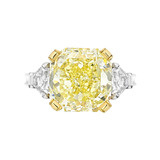 6.74 Carat Fancy Yellow Diamond Ring